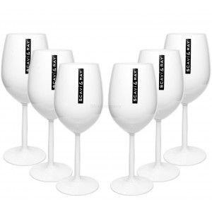 Scavi & Ray Gläser-Set - 6x Weingläser / Ballongläser in weiß