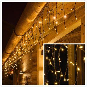 200 LED Eisregen Lichtenvorhang Lichterketten Weihnachten Eiszapfen Lichterketten Weihnachtslichterkette Lampenkette Party