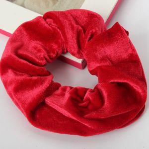 XXL Velour Samt Haargummi Zopfgummi Haarband Pferdesschwanz Scrunchie Rot
