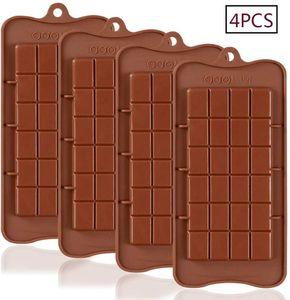 Brechbare Schokoladenformen, Set mit 4 Packungen, Lebensmittelqualität, antihaftbeschichtet, Silikon, Eiweiß und Energieriegel-Formen