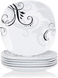 VEWEET Porzellan Dessertteller 'Zoey' 6-teilig Set | Durchmesser 19,2 cm | Ergänzung zum Tafelservice 'Zoey' | Kuchenteller für 6 Personen