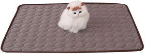 Sommer Pad Zwinger Pad Pet Cooling Pad Breathable Kühlmatte Schlafmatte für Hunde Katzen Coffee L