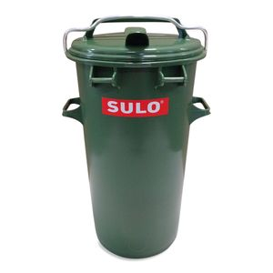 Runde 50 L Mülltonne Farbe grün Retro Tonne Mülleimer Abfalltonne mit ALU-Bügel (50 Sulo grün m.B.)