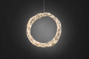 Konstsmide - LED Dekoration, variabel als Lichterkranz / Lichtergirlande, weiß, 240 warm weiße Dioden, 24V Außentrafo, weißes Kabel ; 3365-100