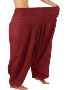 XXL-Aladinhose aus Baumwolle, extragroße Haremshose von Leucht-Welten, dehnbarer Bund