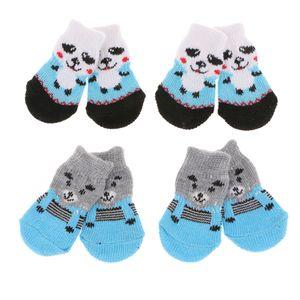 8 Stücke Haustier Kleidung Hund Katze Anti Skid Socken Pfotenschutz Snowproof Größe S