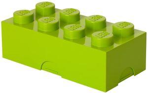 CYE LEGO Brotdose mit 8 Noppen, Kleine Aufbewahrungsbox, Stiftebox, lindgrün