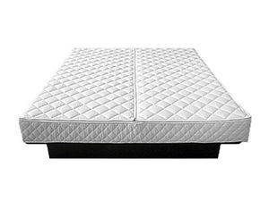 Wasserbettüberzug für Wasserbetten 180 x 200 cm Baumwolle Polyester Reißverschluss geschloßen