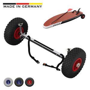 SUP-Räder, Stand Up Paddle Board Wheels, Transport-Wagen, SUPROD UP260, Edelstahl, schwarz/rot