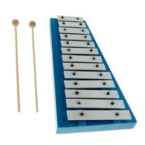 15 Schlüssel Kinder baby Traditionelle Metall Xylophon Musik Spielzeug Instrument