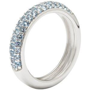 Fossil Damen Ring Sterling Silber Zirkonia blau JFS00081040, Ringgröße:53 (16.8 mm Ø)