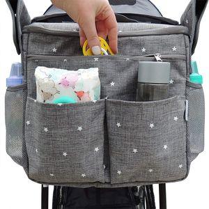 Wickeltaschen,Multifunktionale Babywindeltasche, modische Babytasche, Kinderwagentasche, grau