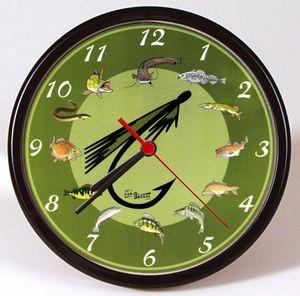 Wanduhr - Uhr - Clock - batteriebetrieben - Angeln - Fische - Größe ca 25 cm - 56835