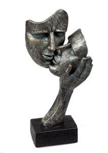 Formano Büste Gesichter auf Sockel Liebespaar Figur Poly 30 cm