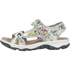 rieker Damen Sandale Weiss Schuhe, Größe:38