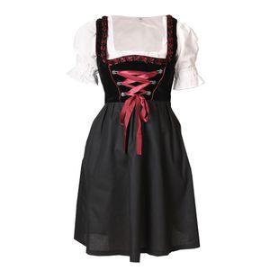 Dirndl 3 tlg.Trachtenkleid Kleid, Bluse, Schürze, Gr. 34-46 schwarz rot Samt 36