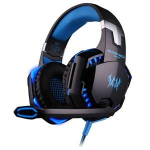 Gaming Headset PS4 G2000 mit Mikrofon, Audiokabel, Stereo-Audio-Bass und LED-Taschenlampe PC Gaming Headset für PS4/PC/Xbox Ones (Blau)