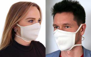 Mundschutz Baumwolle  Gesichtsmaske Stoffmaske Schutzmaske Waschbar Hellbeige