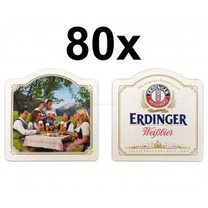 Erdinger Weißbier Bierdeckel Untersetzer Bierfilz - 80er Packung