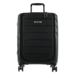 Franky Spinner Gr. S Handgepäck Koffer mit TSA-Zahlenschloss - Extra leichtes Polypropylen Schwarz