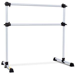 COSTWAY Ballet-Bar aus Eisen, Ballettstange hoehenverstellbar, Ballett Barre freistehend, Stretch Barre 123x71x119cm
