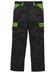 Everyday Workwear Bundhose - ED24/7 - Farbe: Black/Lime - Größe: 60