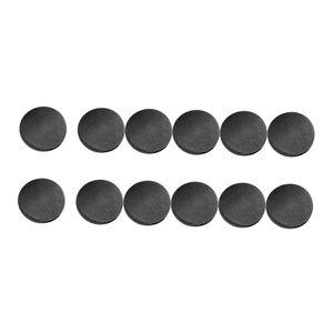 Instant Buttons Ersatz Abnehmbarer Knopf 12 Stück Keine Nähen Knöpfe für Jeans Hosen,Bastel DIY Kleidung (Größe: 17mm) Farbe Gunblack