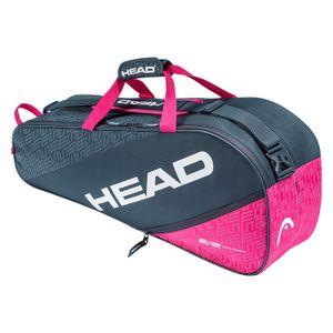 HEAD Elite 6R Combi Tennistasche Anthrazit Pink