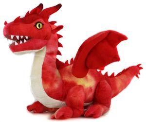 Uni-Toys - Drache rot - 40 cm (Länge) - Fabeltier - Plüschtier, Kuscheltier