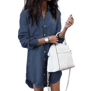 Frauen Lässig T-Shirt Einfarbiges Top Sommerkleid,Farbe: Navy blau,Größe:3XL