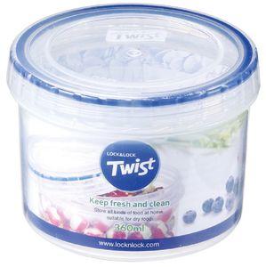 Lock&Lock LLS121 Twist Frischhaltedose rund, 360 ml