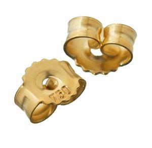 1Paar 750 Gelbgold Gegenstecker Ohrstecker Ohrstopper Loch 1,1mm Ohrmutter 4818