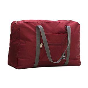 Faltbare große Reisetasche wasserdicht Weinrot ALCYONEUS1