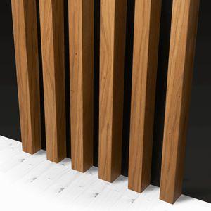 KLEMP Lamellenwand Wandverkleidung| 17 Stk. (1 lfm) | Aus MDF dekorative Paneele | Länge: 280cm | Farbe: Bergen Eiche | Wand und Decke Holzlamellen für Wohnzimmer, Flur, Schlafzimmer | Holzpaneele