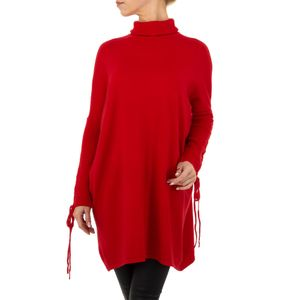 Ital-Design Damen Pullover & Strick Longpullover Rot