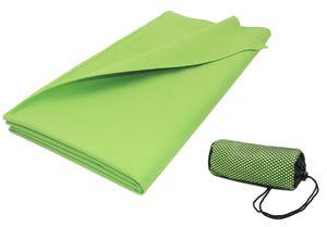 Sporthandtuch Mikrofaser, 90x180 cm, apfelgrün, mit praktischer Transporttasche