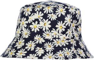 Zodight Uni Drucken Muster Sonnenhut Bucket Hat Fischerhut Sommerhut Sonnenhuete Strandhut Schlapphut Schwarz-Weiß-Gänseblümchen