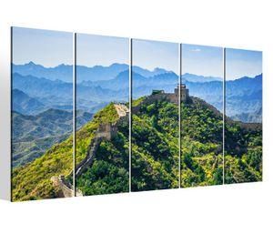 Leinwandbilder 5 teilig XXL 200x100cm Chinesische Mauer China Kat15 Asien Peking Druck auf Leinwand Bild 9BM097