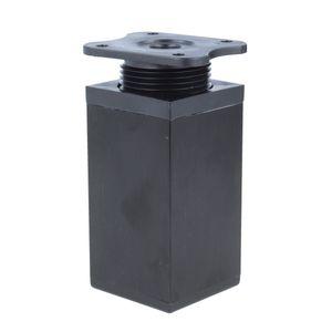 Möbelfuß Möbelfüsse Aluminium Fuss 40x40mm Höhe 80mm Schwarz Höhenverstellbar