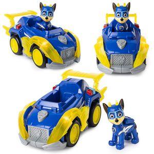 Mighty Pups | Deluxe Fahrzeuge mit Licht, Sound und Spiel-Figur | Paw Patrol, Figur:Chase