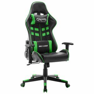 dereoir Gaming-Stuhl Schwarz und Grün Kunstleder