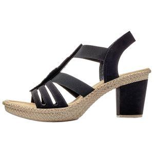 rieker Damen Sandale Schwarz Schuhe, Größe:37