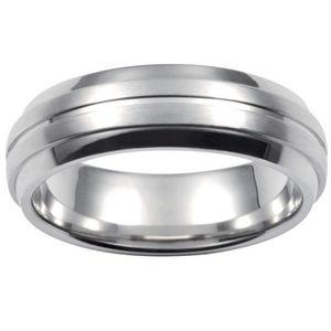 Fossil JF84915 Herren Ring JF 84915 Stahl Größe 63 (20,0 mm) Partnerring