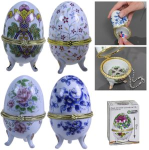 4x Porzellan Ei Set Porzellanei Eierbecher Ostereier Eier Geschenk Porzellaneier