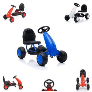 Moni Kinder Go Kart Tretauto Blaze Kunststoffreifen hohe Rückenlehne ab 18 Monate blau