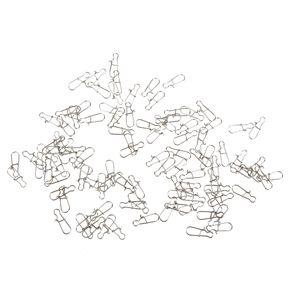 100stk. Kreuzwirbel Wirbel Schnapphaken Angelwirbel Verbinder Karabiner