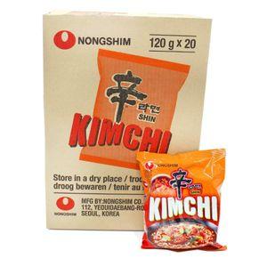 20x120g Nongshim Kimchi Ramyun Instant Nudelsuppe Kim Chi Ramen Suppe