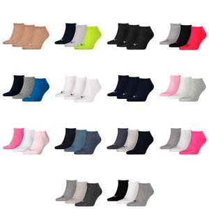 PUMA Uni Socken, 3er Pack - Sneaker-Socken, Damen, Herren, einfarbig Grau/Rosa/Weiß 39-42