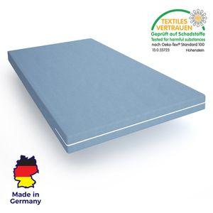 Schaum-Matratze 90x200 Wellness Schaum - Kaltschaummatratze mit waschbarem Bezug - hergestellt in Deutschland