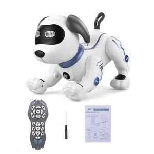 LE NENG Kuscheltiere Roboter Hund Stunt Dog fuer Kinder Geburtstag Weihnachtsgeschenk(Voice Command Programmierbare Touch-sense Musik Song )